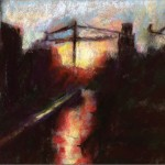 Crosby_Sunset-With-Cranes-Pastel_1