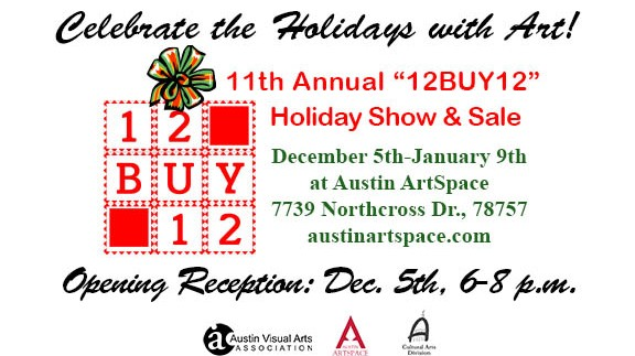 """11th Annual """"12BUY12"""" Holiday Show & Sale Coming Soon!"""