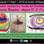 GTYAP Youth Art Exhibit On Display Until Sept. 1